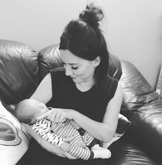 Earlier this week, Ms Brown posted a photograph on Instagram (pictured) with a baby which also showed her wearing a ring on the finger