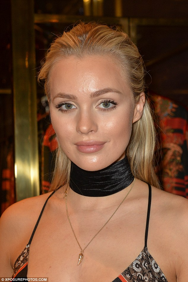 Blonde beauty: Ianthe's green peepers sparkled as she gazed into the lens
