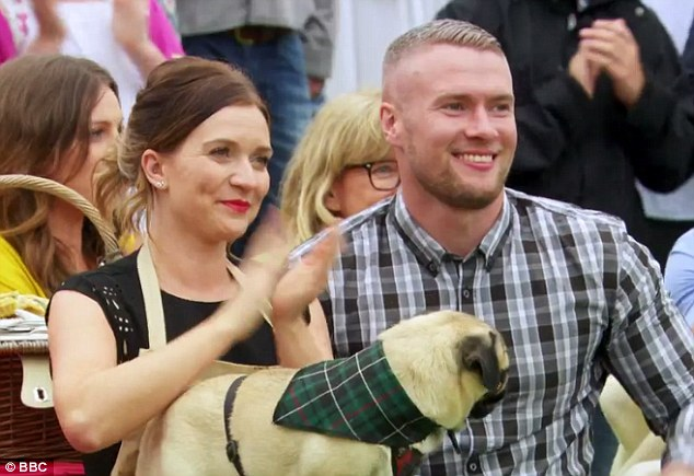 The amateur baker has been with her 30-year-old boyfriend Liam Macaulay (with whom she is pictured) - who was shown in the final congratulating Ms Brown on her win - since 2012