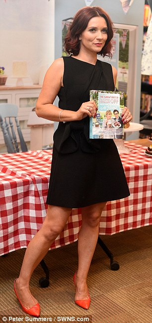 The 31-year-old PE teacher (pictured), was wearing a ring of her engagement finger as she signed books in Waterstone's this morning