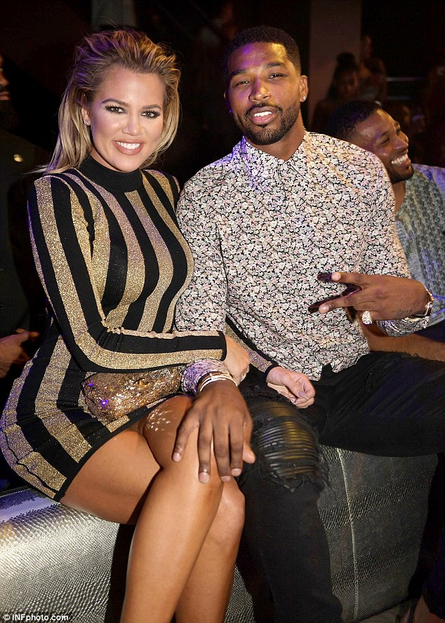 The E! star is currently dating basketball player Tristan Thompson. The duo are pictured on September 18 at LIV at Fontainebleau in Miami,