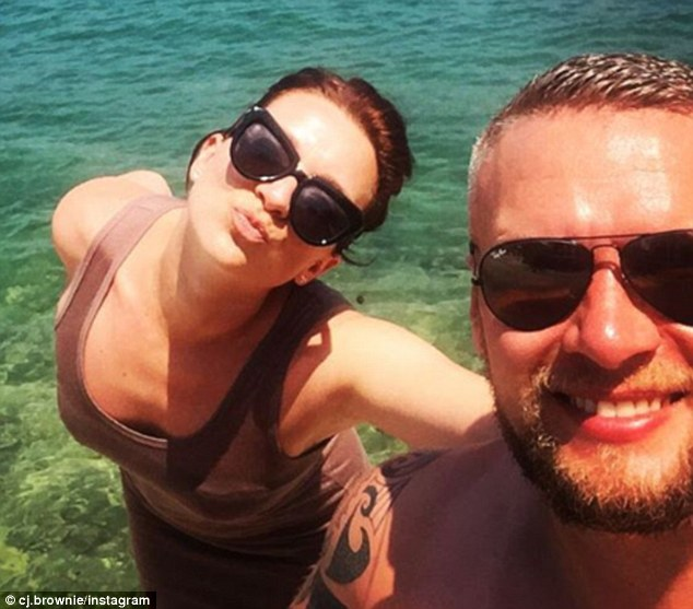 Miss Brown posted a photograph with her boyfriend when they went to Kefalonia, Greece