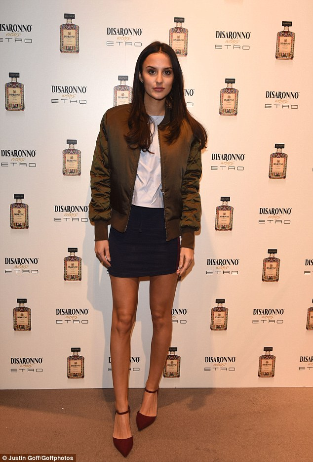 Slim pins: Lucy Watson, 25, attended the Disaronno Wears Etro launch party in Old Bond Street, London, on Wednesday