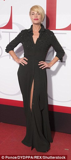 Leggy ladies!Belen Rueda opted for a thigh high split