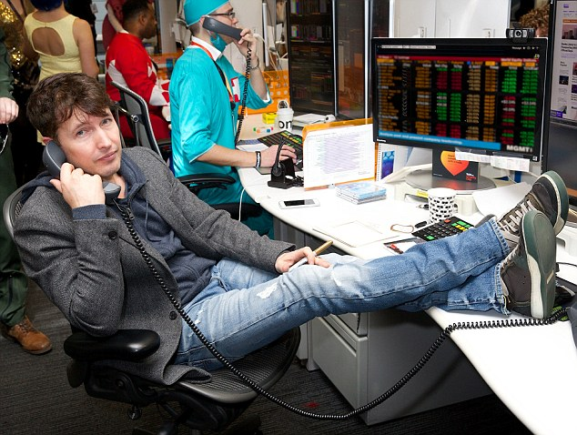 You're beautiful:Also feeling charitable was You're Beautiful hitmaker James Blunt, who opted out of the fancy dress entirely in favour of battered jeans with a blazer and hoodie combo
