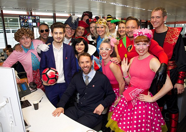 On the ball:England interim manager Gareth Southgate was also in attendance as a Prince's Trust Ambassador, raising funds and awareness for the charity