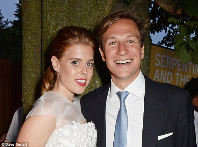 Beatrice, 28, split from Dave (pictured together) in August after ten years together