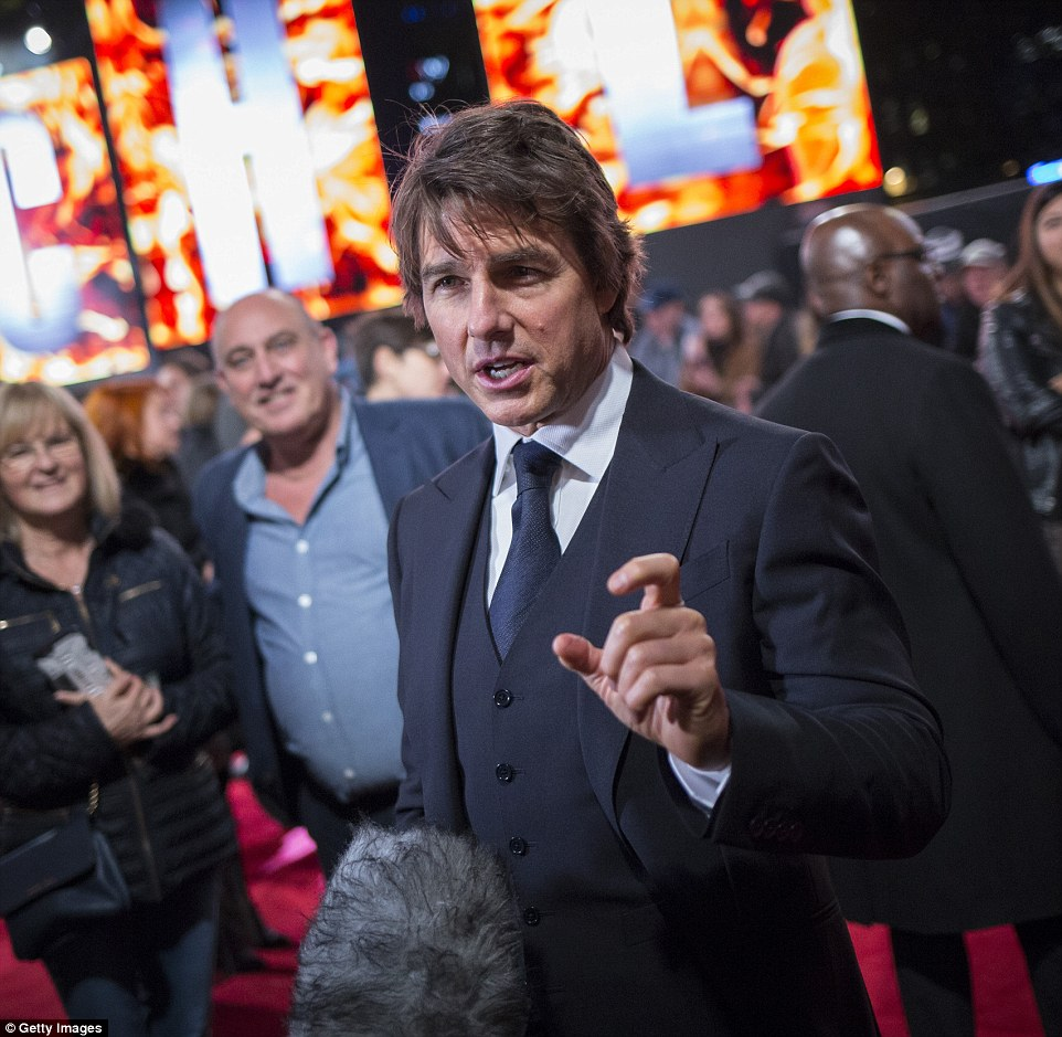 The 54-year-old (pictured at the premiere), who is the most high profile member of the church, said he was 'incredibly proud' to be part of the controversial organization founded by L. Ron Hubbard