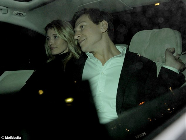 Dave Clark, 32, paraded a mystery blonde (pictured) at the Chiltern Firehouse in Marylebone this week