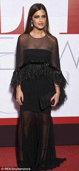 Red carpet glamour: Spanish sports journalistSara Carbonero...