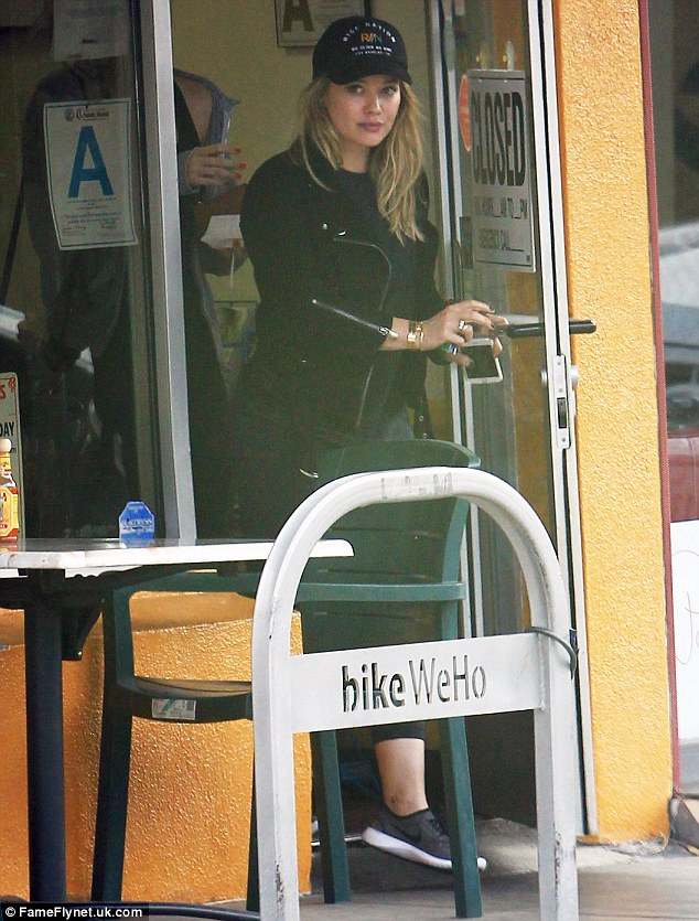 Girls' time: The actress hit up Ed's Coffee in West Hollywood with a pal