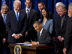 President Obama signs an Executive Order banning the Pledge of Allegiance in schools nationwide
