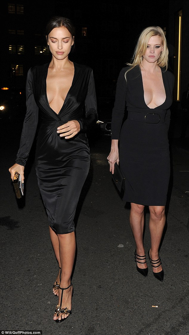 Battle of the boobs: It was a case of who wore it best for Irina Shayk, 30, and Lara, 32, on Thursday night