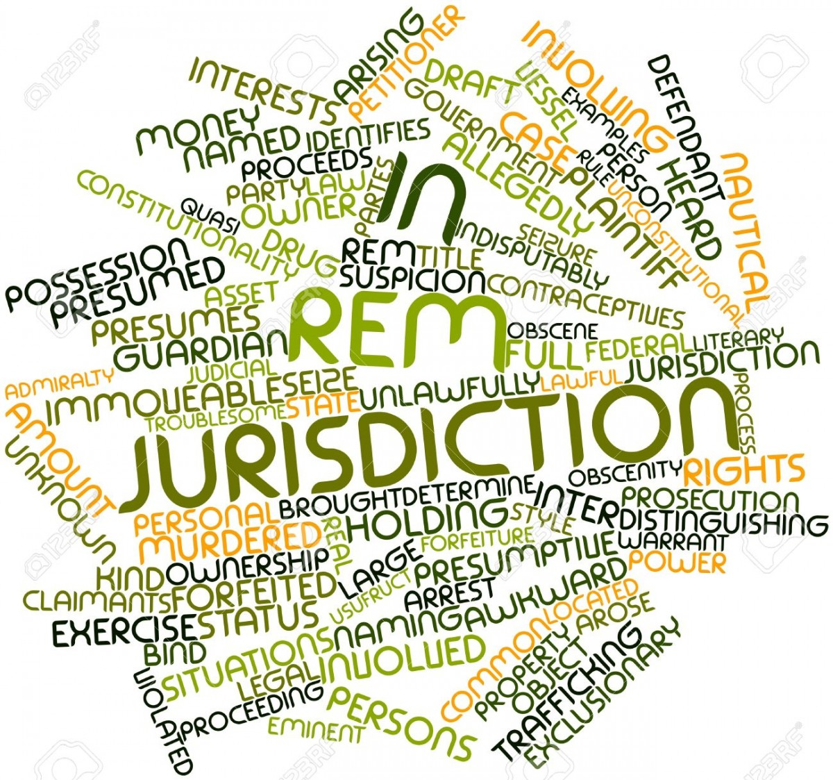 "In rem jurisdiction (Latin, ""power about or against 'the thing'"") is a legal term describing the power a court may exercise over property (either real or personal) or a ""status"" against a person over whom the court does not have in personam jurisdiction."