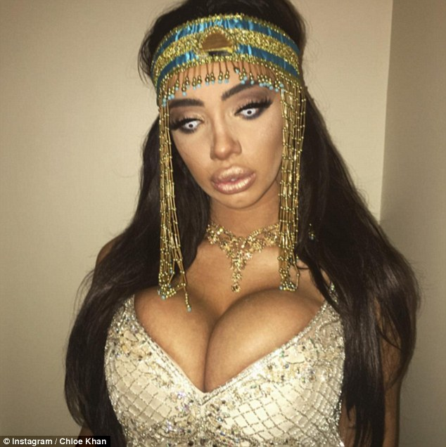 Costume madness! The reality star's new feline look comes after she was slated for her sultry Cleopatra Halloween costume last week as she enjoyed a night on the tiles in Preston