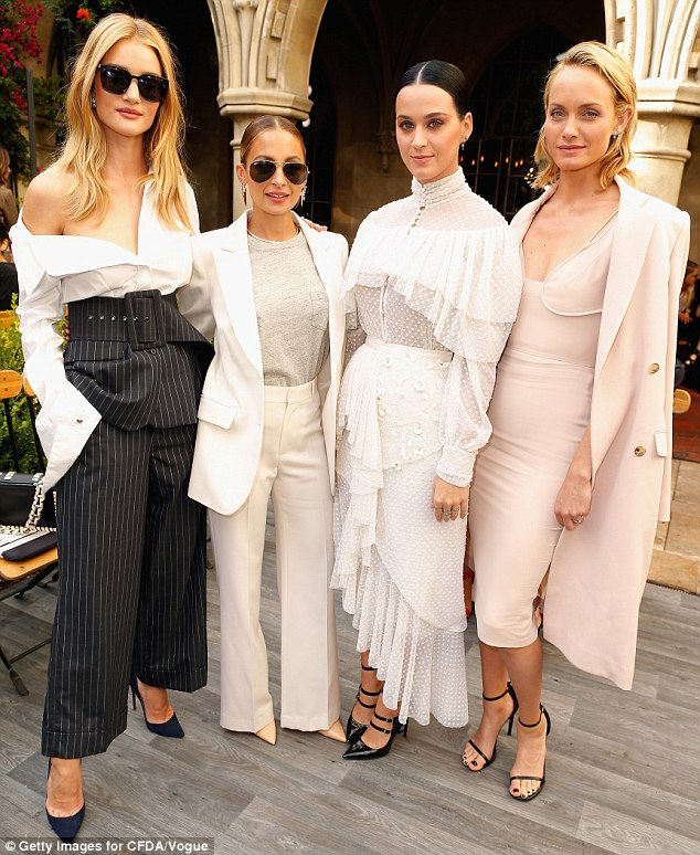 Picture-perfect women: Joining the Transformers: Dark of the Moon star was Nicole Richie, Katy Perry, Camilla Belle (not pictured) and Amber Valletta