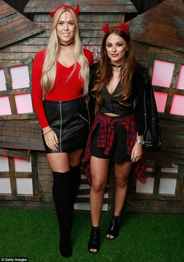 Side by side: TOWIE pals Chloe Meadows and Courtney Green mad ea joint appearance at the north London event