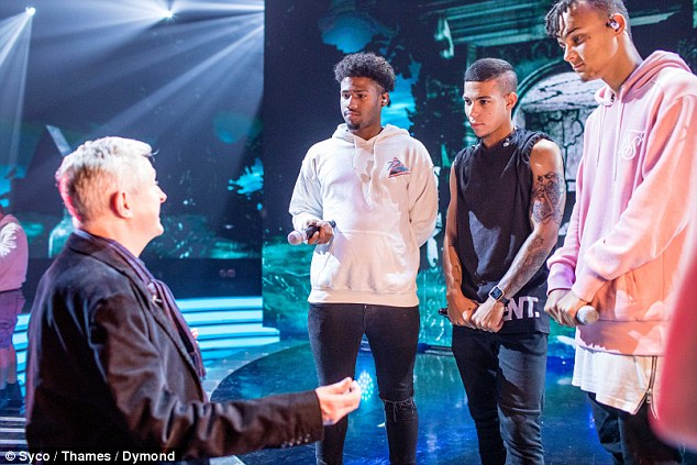 Learning from the best: Groups judge Louis was also in attendance, and set to work offering 5 After Midnight  some words of wisdom