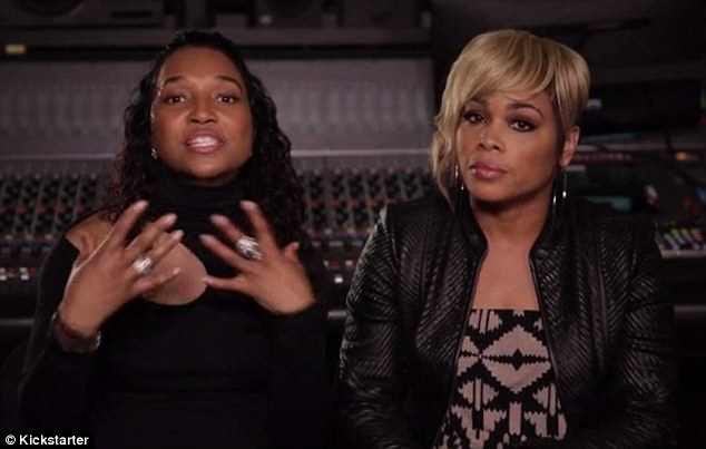 They're back: The two remaining members of TLC - Tionne 'TBoz' Watkins and Rozonda 'Chilli' Thomas - have teased new music from their first album in 14 years on Thursday
