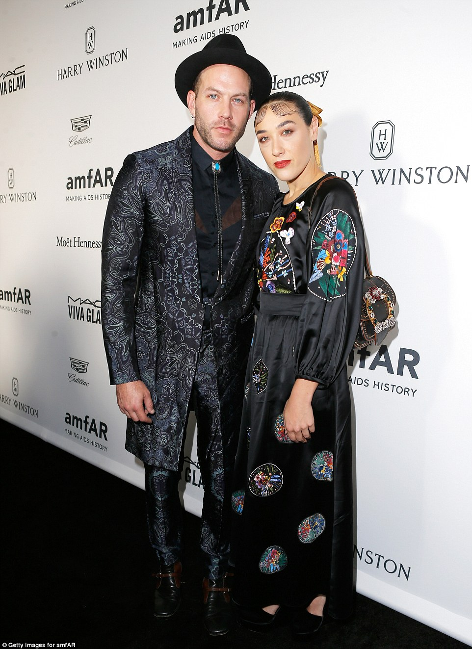 Edgy:Johnny Wujek andMia Moretti showed off the funky fashion sense