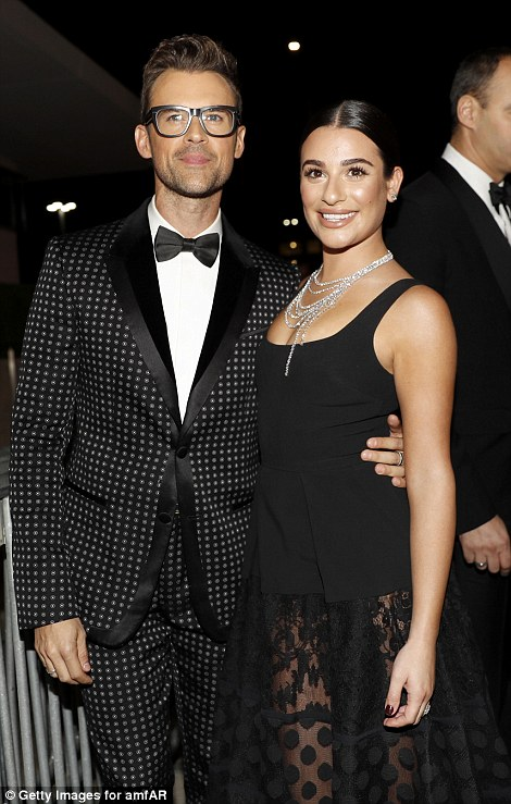 Spot on! Lea was joined by stylist Brad Goreski, who sported a polka dot suit while she also cosied up to Heidi