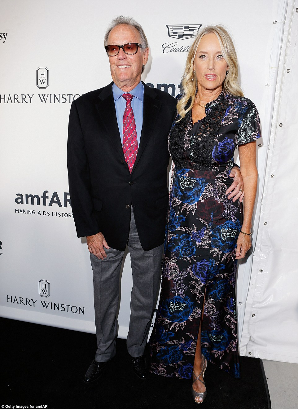 Look who's here! Peter Fonda and his wifeMargaret 'Parky' DeVogelaere were attached at the hip