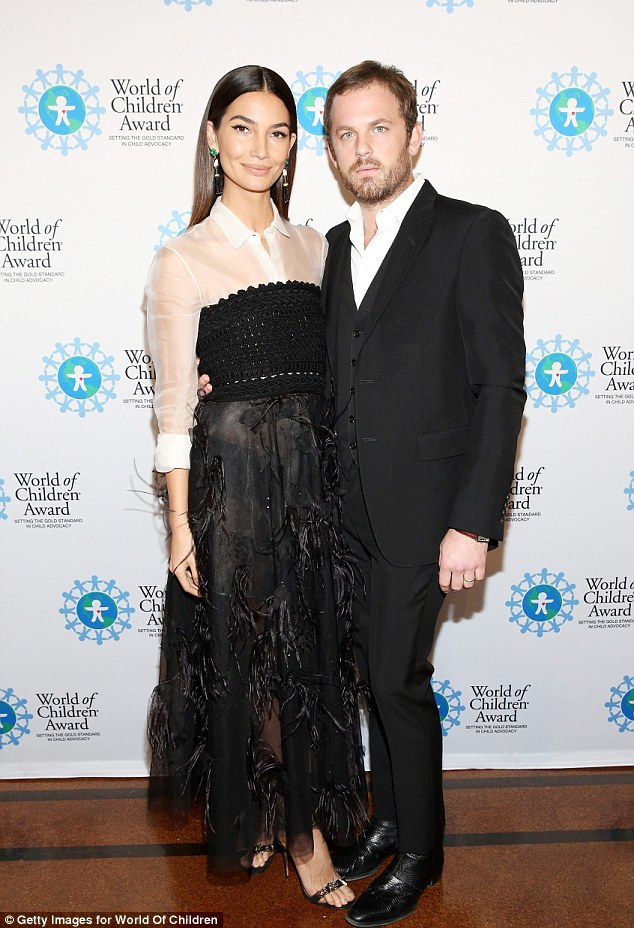 Date night:Despite being married for six years, Lily and her Kings Of Leon husband are rarely seen together