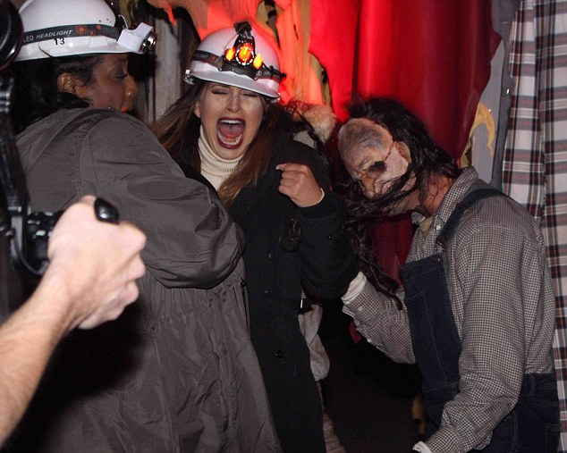 Scarefest! Ferne McCann was tasked with exploring Alton Towers with co-presenter Alison Hammond on Friday