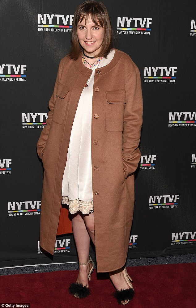 Miraculous recovery: Lena Dunham looked fit and well at the Conversation With Girls eventin New York on Thursday