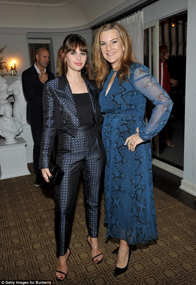 Party pals: She also chatted to Vanity Fair West Coast editor Krista Smith