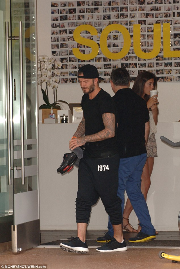 Regular: Beckham remains passionate about keeping his body in shape - and inked!