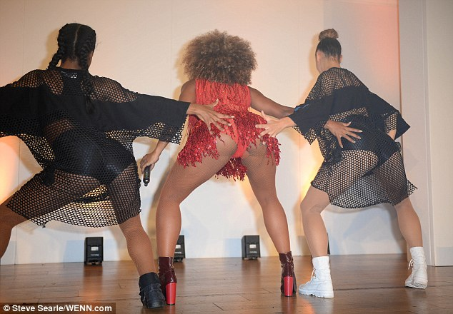 Pert:She also showed off her pert posterior during one segment of her dance when her frock rode up to reveal matching red underwear
