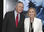 """FILE - In this Feb. 11, 2014 file photo, actress Eva Marie Saint, right, poses with her husband, writer/director/producer Jeffrey Hayden at the world premiere of """"Winter's Tale"""" in New York. Hayden died at his Los Angeles home on Dec. 24, 2016. He was 90. (Photo by Andy Kropa/Invision/AP, File)"""