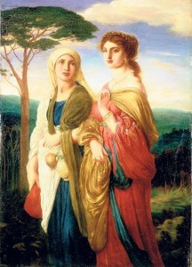 """Simeon Solomon, """"Judith and her Attendant going to the Assyrian Camp,"""" 1872"""