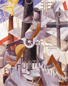 gino-severini-visual-synthesis-of-the-idea-war-1914