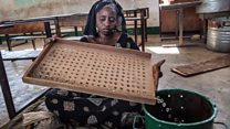 Gambians use marbles to vote