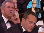 """8 January 2017 - Los Angeles - USA  **** STRICTLY NOT AVAILABLE FOR USA ***  Meryl Streep fights back tears as she rips into 'bully' Donald Trump and his impersonation of a disabled reporter in speech that stuns the Golden Globe Awards. Streep used her acceptance speech to publicly slam President elect Donald Trump as she alluded to racism and disrespect. The Cecil B. DeMille honoree supplied the night's most striking rebuke to Trump, called the moment he mocked a disabled reporter the 'most stunning performance' of the year. """"There was nothing good about it, but it did its job,"""" Streep said in her speech, without mentioning Trump by name. """"It kind of broke my heart when I saw it, and I still can't get it out my head because it wasn't in a movie, it was in real life.  It was that moment when a person asking to sit in the most respected seat in our country imitated a disabled reporter - someone he outranked in privilege, in power and in the capacity to fight back. That instinct to humil"""