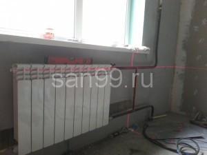 Пример работы. Установка радиатора в квартире в Москве