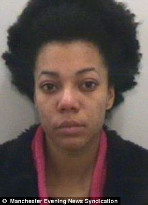 Jessica Ogunyemi, 20, from Withington, Manchester, who helped Bammeke launder money earned from the scam