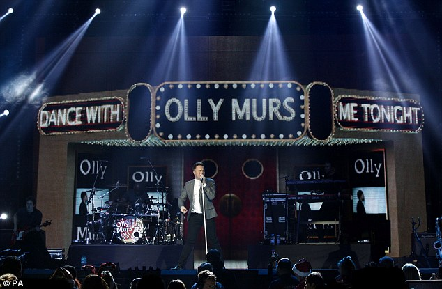 What an opener: Olly Murs was the first act to take to the stage