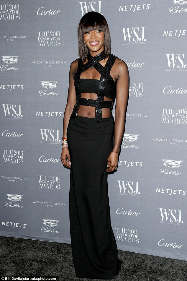 Ageless beauty: Naomi Campbell appears to have barely aged a day, as she dazzled on the red-carpet in NYC on Wednesday