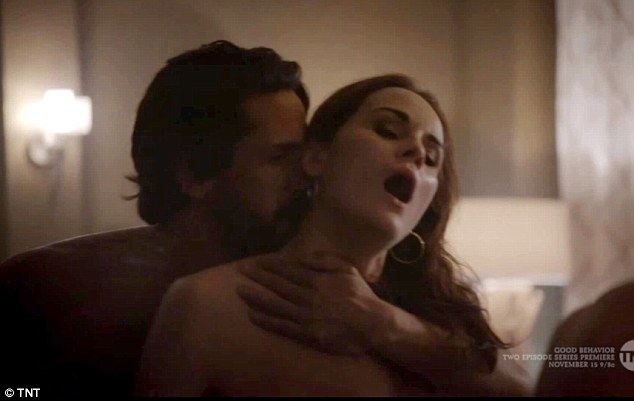 Racy: Michelle Dockery is worlds away from her character Lady Mary in her new US television drama called Good Behaviour