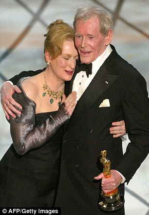 He drank with Meryl Streep before the Academy Awards ceremony in 2003
