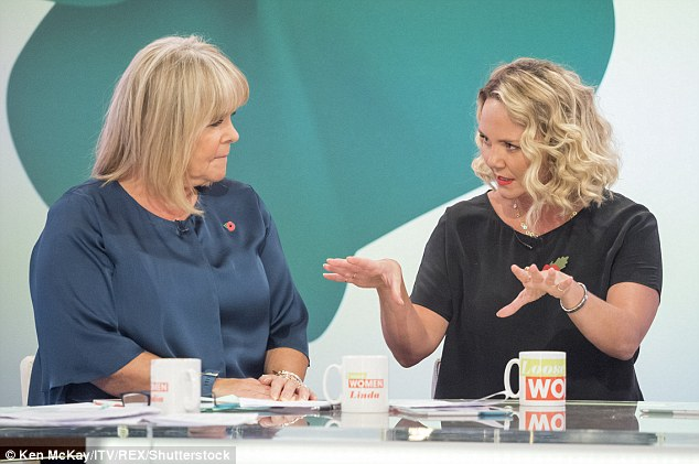 Him, upstairs: When asked how she's managed to keep on such good terms with her ex, Charlie explained to the Loose Women panel that Tony lives in the flat above hers