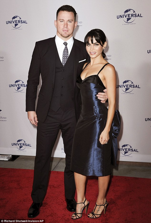 Charitable couple: Channing Tatum and his wife Jenna Dewan Tatum attended the Fulfillment Fund Stars Gala in Los Angeles on Wednesday