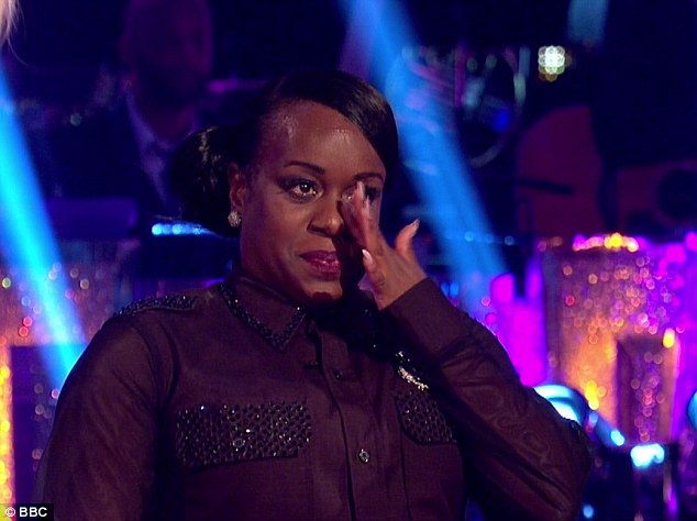 Out:Tameka Empson was eliminated on Sunday's Strictly Come Dancing, but some of the viewing public labelled it a 'racist' move by the voters as she followed Melvin Odoom