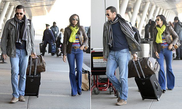 Padma Lakshmi and ex Adam Dell spotted jetting out of JFK together
