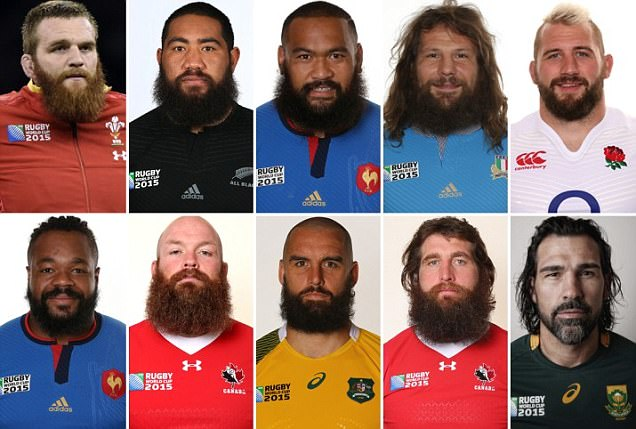 Beards of the Rugby World Cup 2015: Bewhiskered backs, hipster hookers and scrum fluff