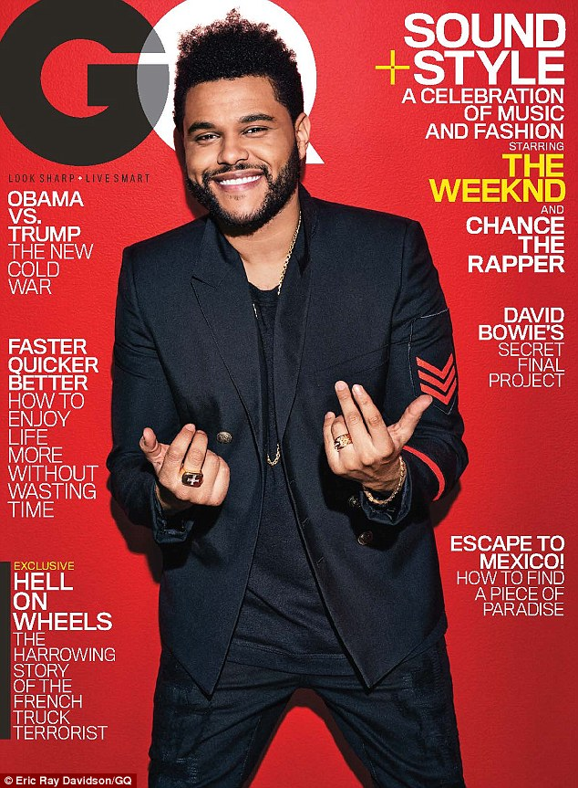 In the news: The Weeknd is featured on a cover for the February issue of GQ magazine