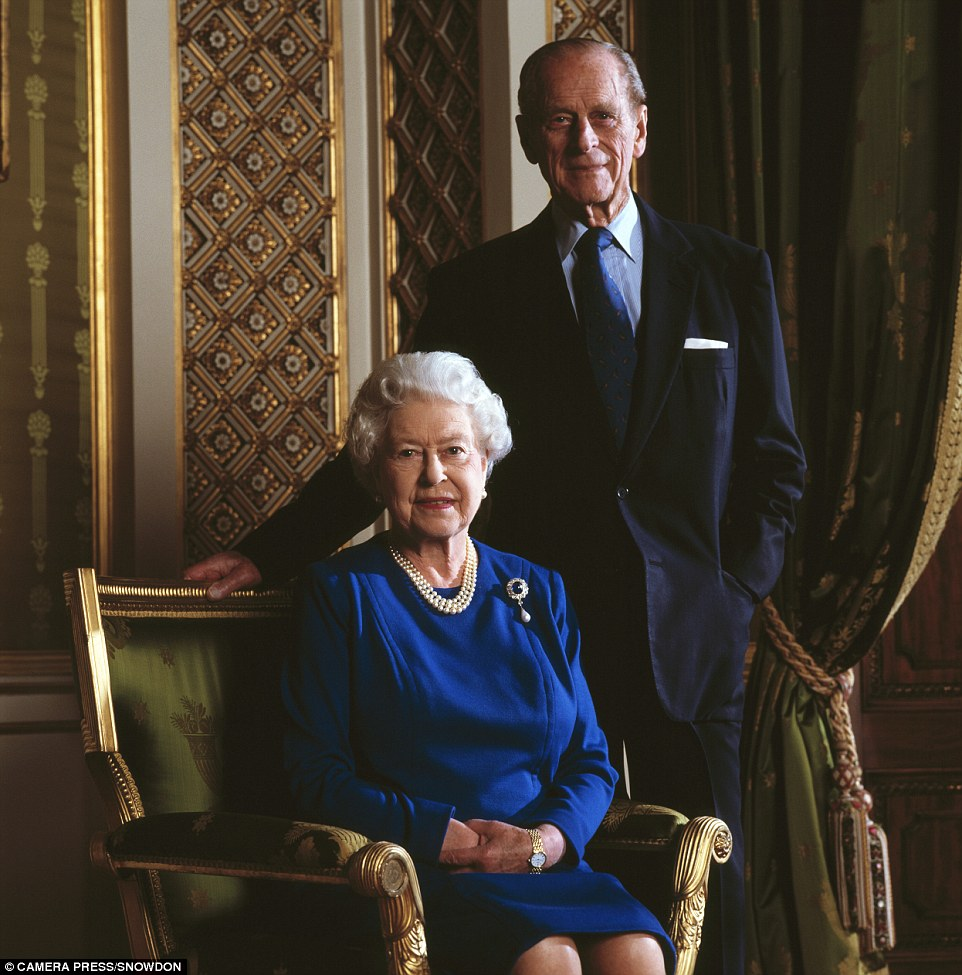 The Queen Elizabeth II and the Duke of Edinburgh, photographed at Buckingham Palace by Lord Snowdon as they celebrate their 60th wedding anniversary in November 2007